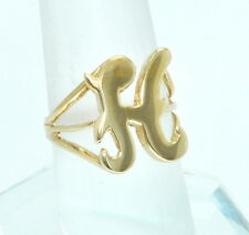 """14K Yellow Gold Initial """"H"""" Ring : Personlized Jewelry custom made ring"""