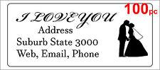 100 Personalised return address label custom mailing sticker 56x25mm wedding