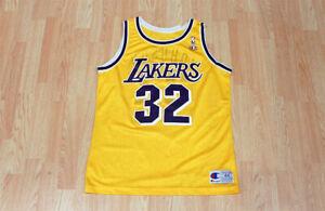 Vintage Magic Johnson Lakers NBA Champion Jersey 90s Size 44 MINT