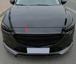 Carbon fiber style Front Engine Hood Cover Trim For Mazda 6 Atenza 2019-2020