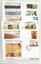 Pope goes to Africa- 14 Fdcs- 1990