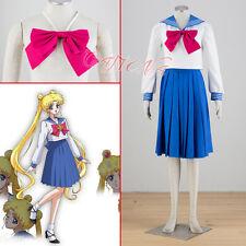Cafiona Sailor Moon Tsukino Usagi Crystal Cosplay Costume Pleated Skirt Suits