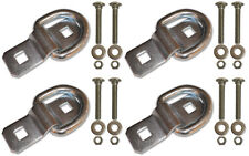 """4 - 3/8"""" Stainless Steel D Ring Rope Chain Tie Down Trailer Kit with SS Bolts"""
