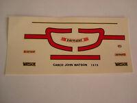DECALS KIT 1/12 JOHAN WATSON F1 BRABHAM ALFA