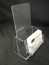 Dual use Counter Standing Leaflet & Business Card Holder for DL Size Flyers Menu