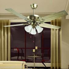 52-inch New Fashion Luxury Iron leaf Large wind Retro European Ceiling Fans Lamp