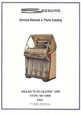 MANUALE COMPLETO  (manual) JUKEBOX SEEBURG HF 100R SELECT-O-MATIC 100 (juke box)