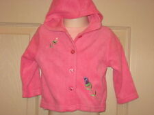 Parisian Bebe Terry Cloth Hoodie Jacket & Knit Top Pink Roses 12 Months NWT