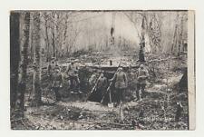 AK / Guter Unterstand, ..Waldbunker......1. Weltkrieg