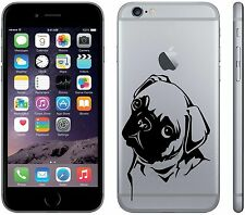 Cute Pug Dog for Iphone 6 plus Wall Vinyl Decal Sticker, Or any smooth surface