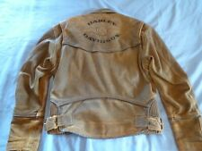 MENS Vintage Harley Davidson BILLINGS Brown Distressed Leather Suede Jacket Sz M