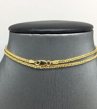 14K Solid Yellow Gold Foxtail Chain 24 Inches