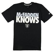 NIKE Oakland Raiders McFADDEN KNOWS T-Shirt sz S Small Black Oak Official NFL