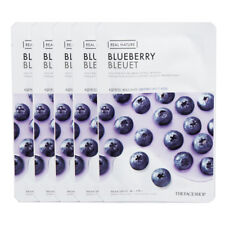 The Face Shop Real Nature Grinding Mask Blueberry Moisture 5pcs Korea Cosmetic