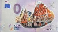 BILLET 0  EURO RIGA  LITUANIE   COULEUR  2020 NUMERO DIVERS