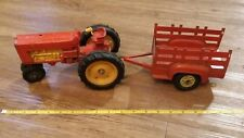 vintage hubley toy tractor with trailer