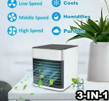 Mini Air Conditioner Portable Air Purifier LED USB Rechargeable Cooling Fan US