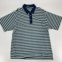 Polo by Ralph Lauren Mens Golf Shirt Size XXL 2Xl Green Blue Stripe Short Sleeve