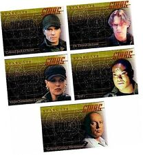 "Stargate SG-1 Premiere Edition (Covers Seasons 1-3) - 5 Card ""Stars"" Set S1-S5"
