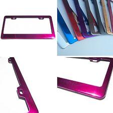 Powder Coated Hot Pink Chrome Stainless Steel License Plate Frame Bracket Holder