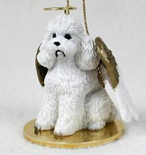 Poodle (White Sport Cut) Angel Dog Christmas Ornament Holiday Figurine Statue