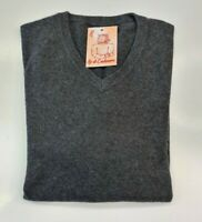 PULL TAILLE XL SWEATER HOMME 100% PUR CASHMERE CACHEMIRE PURE CLUB ROOM GRIS