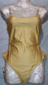 Gucci One Piece Swimming Suit Gold Colour, Size M