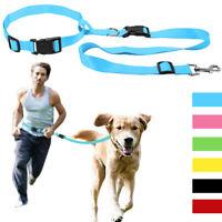 Hands Free Dog Leash Waist Belt Lead Nylon Pet Dog Running Walking Jogging Leash