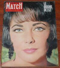 PARIS MATCH #609 1960 Elizabeth Liz Taylor Stavisky vintage magazine