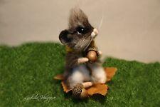 OOAK needle felted mouse, teddy animals, by Jljuda, handmade.