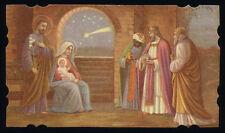 santino-holy card*ediz.NB n.3042 NATIVITA',ADORAZIONE DEI RE MAGI