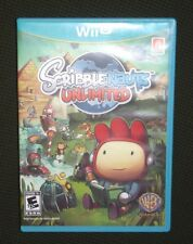 SCRIBBLENAUTS UNLIMITED WII U Complete Case Manual Video Game Excellent