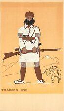 Sheehan Dubosclard Serigraph Art Postcard Santa Barbara View Trapper with Rifle