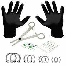 BodyJ4You 18PC Body Piercing Kit Circular Barbell Horseshoe 16G Surgical Steel