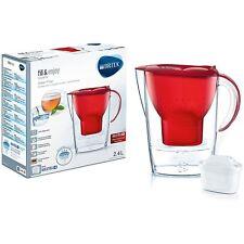 BRITA Marella Cool Maxtra + Plus 2.4 L Caraffa filtrante per frigorifero + 1 Cartuccia-Rosso