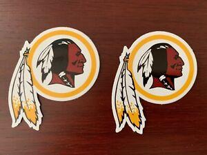 2x Washington Redskins Vinyl Stickers Decals