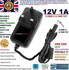REGNO Unito AC/DC 12V 1A 1000mA 100-240V AC 50/60Hz Power Supply Adattatore Caricatore Rete Elettrica UK