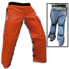 """SAFETY CHAINSAW CHAPS FOR WOOD CUTTING REGULAR LENGHT FITS MOST 5'4"""" TO 6'"""