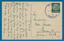 DR Postkarte Böhmisch Leipa (Ceska Lipa), Stempel Olschitz (Osecna) Sudetenland