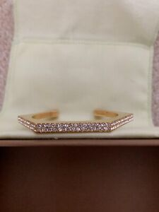 Burberry Gold and Crystal Cuff bracelet