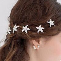 Clips Hair Jewelry For Women Fashion Hair Pins Starfish Crystal Hair Clips