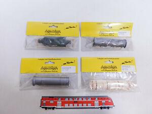 CQ193-0,5# 4x Bauer H0 Ladegut: 3190 Flanschrohr + 10076 Zylinder etc, NEUW+OVP