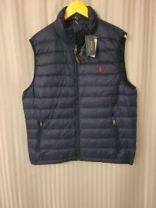 Ralph Lauren Polo  Packable Down Vest Navy Large MSRP $159 Puffer Jacket
