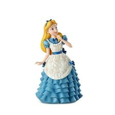New Disney Showcase Figurine Alice In Wonderland Statue Blue White Gown Girl
