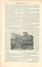 Chantier Pont Alexandre III Exposition de 1900 Paris GRAVURE ANTIQUE PRINT 1897