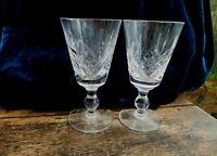 Edinburgh Crystal Pair Sherry Glasses Beautiful Cut  Lead Crystal Glass
