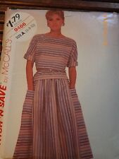 Misses Size 6 8 10 Top Kimono Sleeves Skirt Vintage Sewing Pattern McCalls 9466