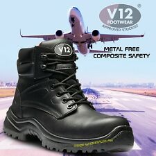 V12 Defender STS Men Safety Combat Boots Waterproof Metal Free Composite Toe Cap