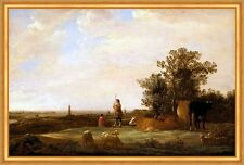 View on a Plain Aelbert Jacobsz. Cuyp Weide Rinder Kühe Ebene Land B A2 00251
