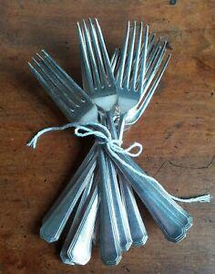 Set Of 11 Vintage Large Silver Plate  Mappin & Webb Dinner Forks.